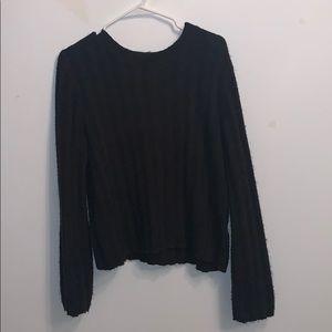 H&M black light wool-like sweater